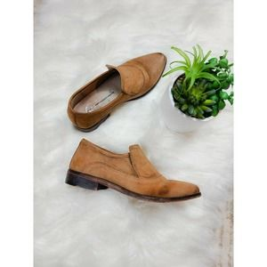 Free People Brown Suede Brady Slip On Loafers 5.5